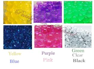 water beads, water pearls, smelly jelly, polymer beads, magic water beads, floral beads